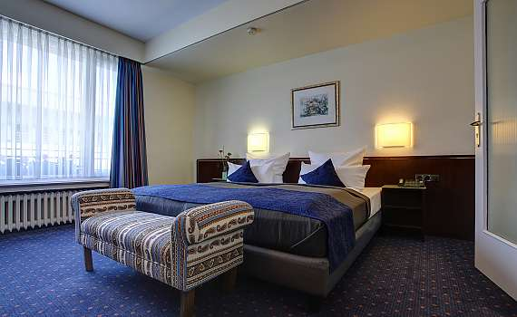 Spacious double room at the Centro Hotel Uebachs