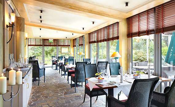 The award-winning restaurant le Marron at the Park Hotel Ahrensburg