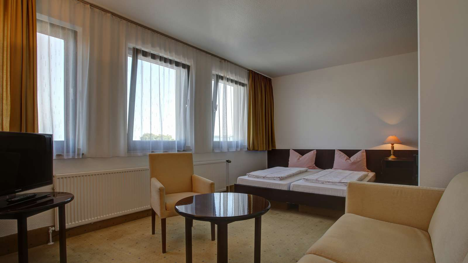 Spacious double room in the Centro Hotel Krefeld