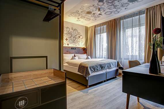 A double room at Centro Hotel Korn in Essen