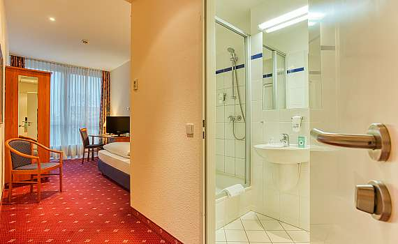 Badezimmer im Centro Hotel Berlin City West