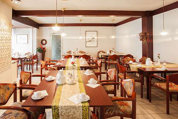 The breakfast room of Centro Hotel Korn in Essen