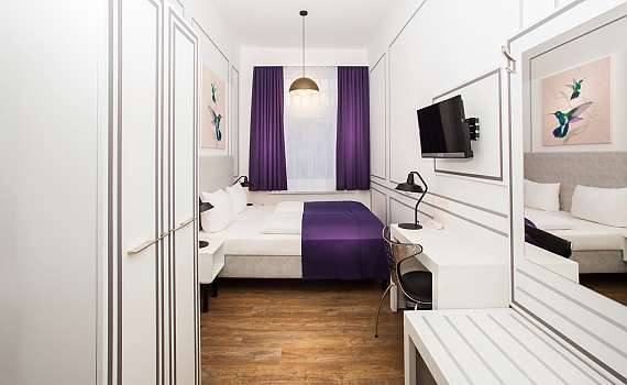 A double room atHotel Boutique 056 in Hamburg