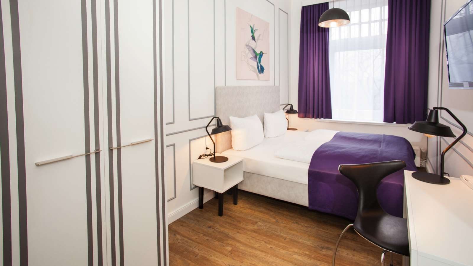 A double room at Centro Hotel Boutique 56 in Hamburg