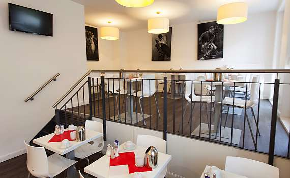 The breakfast room of Hotel Boutique 072 Hamburg St. Georg