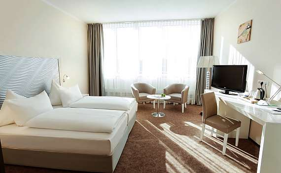 A double room at Best Western Hotel Hannover City