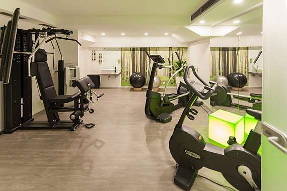 The gym of Centro Hotel Kommerz, directly next to Cologne Cathedral and main station