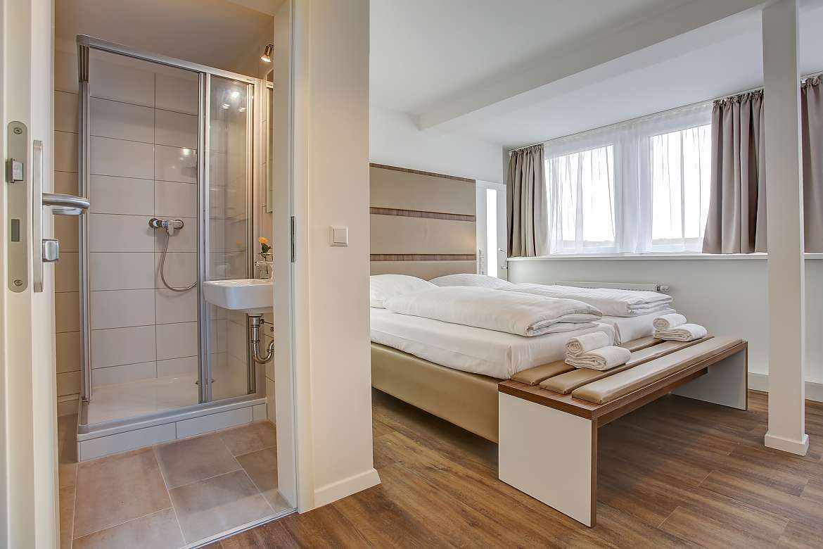 A double room at Boutique 030 Hannover City